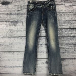 Miss Me Distressed Bootcut Jeans JE8034BX
